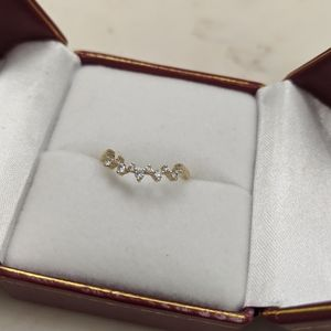 Moissanite Curved Wedding Band